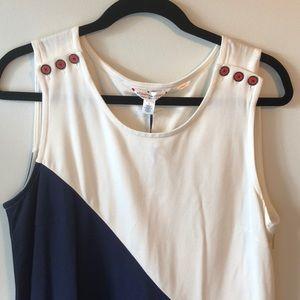 Block color sleeveless dress
